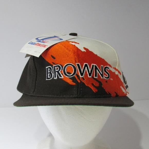 cheap for discount 4deaf 9d1ef Vintage NFL Cleveland Browns Snapback Cap Hat